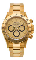 Timepieces:Wristwatch, Rolex Ref. 16528 Very Fine Gold Oyster Perpetual CosmographDaytona, circa 1991. ...