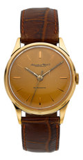 Timepieces:Wristwatch, International Watch Co. 18k Rose Gold Automatic, circa 1950's. ...