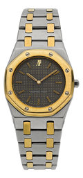Timepieces:Wristwatch, Audemars Piguet Mid-Size Steel & Gold Royal Oak. ...