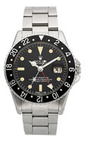Timepieces:Wristwatch, Rolex Ref. 1675 Pointed Crown Guard GMT-Master, circa 1960. ...