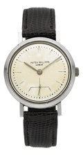 Timepieces:Wristwatch, Patek Philippe Rare Ref. 3418 Steel Wristwatch, circa 1955. ...
