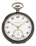 Timepieces:Pocket (post 1900), Vacheron & Constantin Niello Enameled Pocket Watch. ...