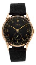 Timepieces:Wristwatch, Doxa Large Rose Gold Watch With Date. ...