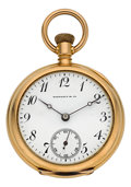 Timepieces:Pocket (post 1900), Tiffany & Co. Lady's Gold Pendant Watch. ...