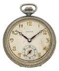 Timepieces:Pocket (post 1900), Rolex Gold Filled Pocket Watch. ...