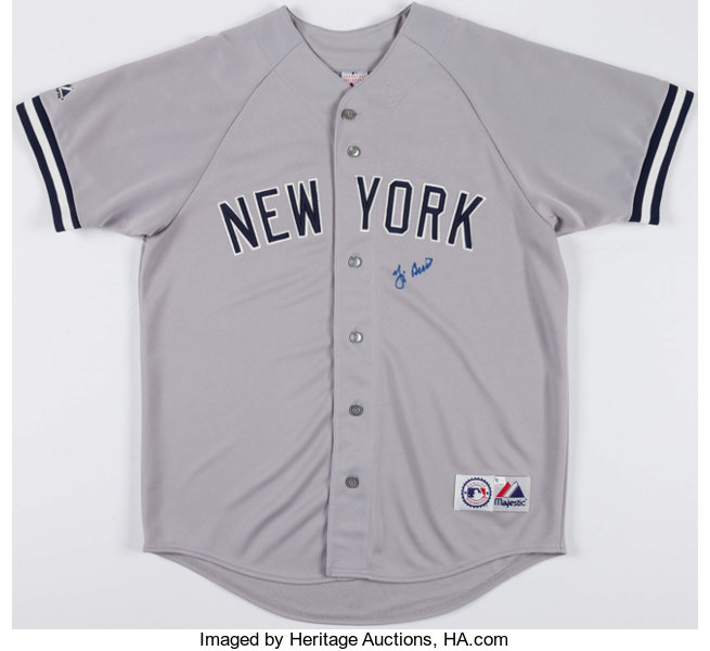 fc97414220f Yogi Berra Signed New York Yankees Jersey.... Baseball Collectibles ...