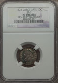 Bust Dimes, 1821 10C Large Date, JR-6, R.2, -- Rev Spot Removed -- NGC Details.XF. NGC Census: (1/2). PCGS Population (0/1). Mintage: ...