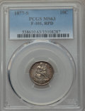 Seated Dimes, 1877-S 10C Repunched Date, F-101, R.3, MS63 PCGS. PCGS Population (1/0). Mintage: 2,340,000. ...