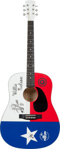 Musical Instruments:Acoustic Guitars, Willie Nelson Signed Guitar...