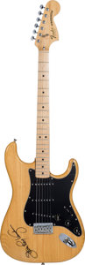 Musical Instruments:Electric Guitars, Stevie Ray Vaughan Signed 1979 Fender Stratocaster....