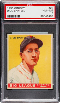 1933 Goudey Dick Bartell #28 PSA NM-MT 8 - None Higher