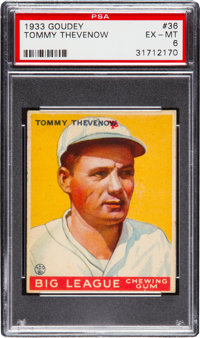 1933 Goudey Tommy Thevenow #36 PSA EX-MT 6