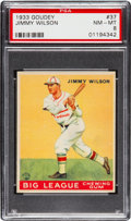 Baseball Cards:Singles (1930-1939), 1933 Goudey Jimmy Wilson #37 PSA NM-MT 8....