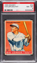 Baseball Cards:Singles (1930-1939), 1933 Goudey Taylor Douthit #40 PSA NM-MT 8....