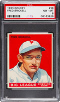 Baseball Cards:Singles (1930-1939), 1933 Goudey Fred Brickell #38 PSA NM-MT 8....