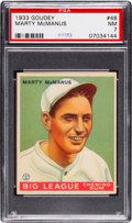 Baseball Cards:Singles (1930-1939), 1933 Goudey Marty McManus #48 PSA NM 7....