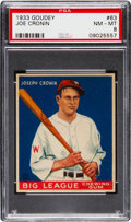 Baseball Cards:Singles (1930-1939), 1933 Goudey Joe Cronin #63 PSA NM-MT 8 - Two Higher! ...