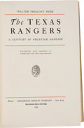 Books:Americana & American History, Walter Prescott Webb. The Texas Rangers; A Century of Frontier Defense. Boston and New York: Houghton Mifflin Co...