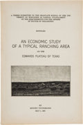 Books:Americana & American History, Bonney Youngblood. An Economic Study of a Typical Ranching Areaon the Edwards Plateau of Texas. College Station...