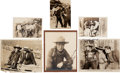 Movie/TV Memorabilia:Autographs and Signed Items, Tom Mix/William S. Hart/Gilbert Roland/Hoot Gibson Stills (Circa1910s - 40s)....
