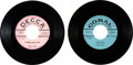 Music Memorabilia:Recordings, Buddy Holly Group of Two 45 RPM Promo Records (1956-58). ...