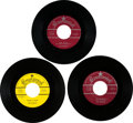 Music Memorabilia:Recordings, Buddy Holly and the Crickets Group of Three 45 RPM Records(1957-59). ...