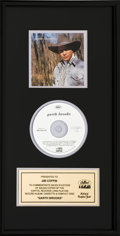 Music Memorabilia:Awards, Garth Brooks Capitol Records In-House Gold Record (CD) Award(Capitol CDP 7 90097 2, 1989). ...