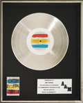 Music Memorabilia:Awards, Police Synchronicity A & M In-House Platinum RecordAward (A & M SP-3735, 1983). ...