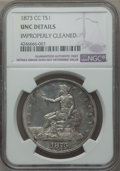 Trade Dollars, 1873-CC T$1 -- Improperly Cleaned -- NGC Details. Unc....