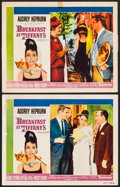 "Movie Posters:Romance, Breakfast at Tiffany's (Paramount, 1961). Lobby Cards (2) (11"" X 14""). Romance.. ... (Total: 2 Items)"