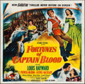 "Movie Posters:Swashbuckler, Fortunes of Captain Blood (Columbia, 1950). Six Sheet (80"" X 80""). Swashbuckler.. ..."