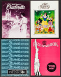 """Movie Posters:Animation, Cinderella & Others Lot (Buena Vista, R-1981). Uncut Pressbooks (5) (Multiple Pages, approx. 11"""" X 14""""), Presskits (2) (11.7... (Total: 10 Items)"""