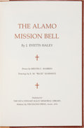 Books:Americana & American History, J. Evetts Haley. The Alamo Mission Bell. Midland: Publishedfor the Nita Stewart Haley Memorial Library by the E...