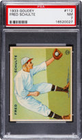 Baseball Cards:Singles (1930-1939), 1933 Goudey Fred Schulte #112 PSA NM 7....