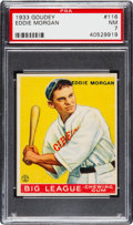 Baseball Cards:Singles (1930-1939), 1933 Goudey Eddie Morgan #116 PSA NM 7....