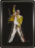 Music Memorabilia:Original Art, Rolling Stones - Ronnie Wood Painting of Freddie Mercury (2007)....
