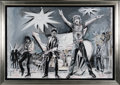 Music Memorabilia:Original Art, Rolling Stones Massive Painting by Ronnie Wood....
