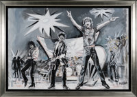 Rolling Stones Massive Painting by Ronnie Wood