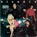 Music Memorabilia:Autographs and Signed Items, Blondie Signed Plastic Letters LP (Chrysalis CHR 1166, 1978)....