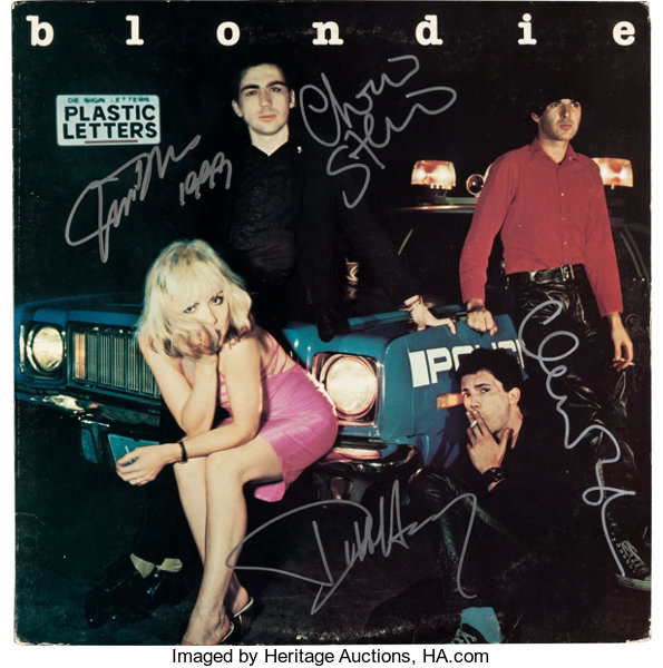 music memorabiliaautographs and signed items blondie signed plastic letters lp chrysalis chr