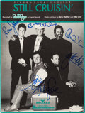 "Music Memorabilia:Autographs and Signed Items, Beach Boys Signed ""Still Cruisin'"" Sheet Music (BMG, 1989)...."