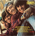 Music Memorabilia:Autographs and Signed Items, The Monkees Band Signed Mono LP (Colgems 101, 1966)....