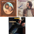 Music Memorabilia:Autographs and Signed Items, Country Music Superstars - Willie Nelson, George Strait, &Others Signed LPs (1973 - 1982).... (Total: 3 Items)