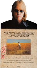 Music Memorabilia:Autographs and Signed Items, Tom Petty - Signed Southern Accents Promotional Stand Up(MCA, 1985)....