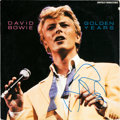 Music Memorabilia:Autographs and Signed Items, David Bowie Signed Golden Years LP (RCA AFL 1-4792,1983)....