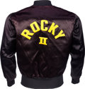 "Movie/TV Memorabilia:Memorabilia, A Crew Jacket Related to ""Rocky II.""..."