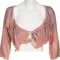 Music Memorabilia:Costumes, Alice Cooper - Neal Smith Stage Worn Pink & Silver Scoop-NeckShirt (circa 1972/1973)....