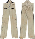 Music Memorabilia:Costumes, Alice Cooper - Neal Smith Stage-Worn Side Button Trousers (circa1973)....