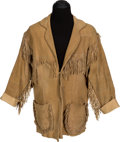 "Movie/TV Memorabilia:Costumes, A Joe Lando Frontier-Style Jacket from ""Dr. Quinn, MedicineWoman.""..."