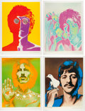 Music Memorabilia:Posters, Beatles - Set of Four Richard Avedon Psychedelic Posters (1968)....(Total: 4 )